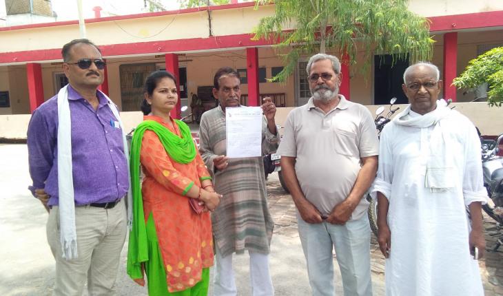 उरई-भारतीय जन नाटक संघ(इप्टा) उरई ने राष्ट्रपति को भेजा ज्ञापन 1