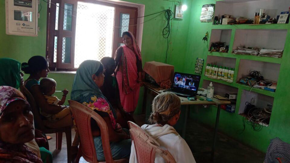 जालौन-सीएससी जन सेवा केन्द्रों से प्रधानमंत्री जी का आत्मनिर्भर नारीशक्ति के साथ संवाद कार्यक्रम प्रसारण किया गया।